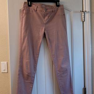 Pink ankle legging jeans
